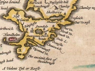 Map of Shetlands