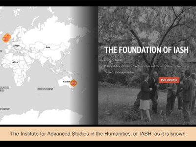 Screengrab of short film, 'The Foundation of IASH'