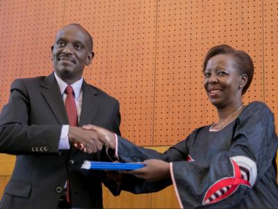 Richard Sezibera and Louise Mushikiwabo