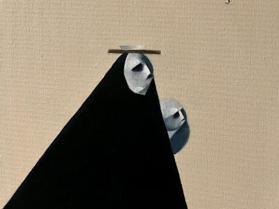 """Painting: """"Family No. 8"""" by Shatha Altowai"""